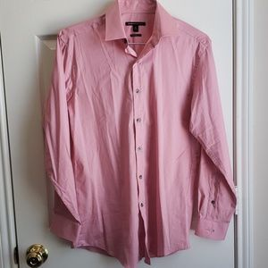 BCBGMaxAzria pink pin stripe dress shirt